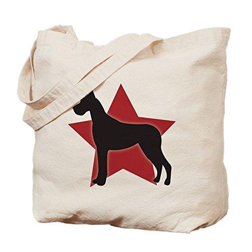 CafePress - Great Dane - Natural Canvas Tote Bag, Cloth Shopping ()