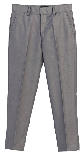 Gioberti Boys Flat Front Dress Pants, Gray, 2T