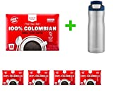 100% Columbian Medium Roast Coffee - Single Serve Pods - 12ct - Market Pantry(5 PACK)+ Contigo Autoseal Chill Stainless Steel Hydration Bottle 24oz(Combo Offer)
