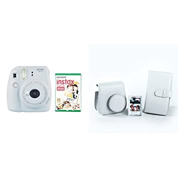 Instax Mini 9 Camera With 10 Shots And Accessory Kit   Smoky White by Instax