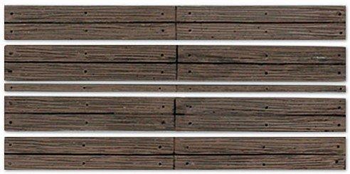 Scale Wood Grade Crossing - WOODLAND SCENICS C1145 O Grade Crossing Wood Plank