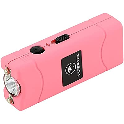 VIPERTEK VTS-881 - 38,000,000 V Micro Stun Gun - Rechargeable with LED Flashlight, Pink