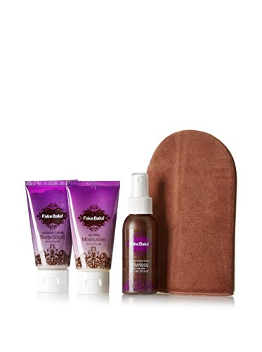 Fake Bake Flawless Travel Kit - 3 piece set [Flawless 3 oz, Lavender Scrub 2 oz and Oil Free Moisturizer 2 oz] - 3 Piece Tanning Set