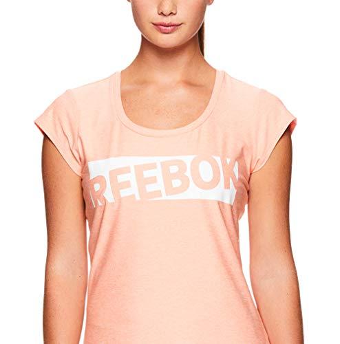 Reebok Women's Legend Performance Top Short Sleeve T-Shirt - Desert Flower Heather, Extra Small by Reebok (Image #4)