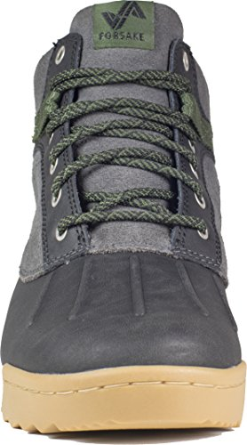 Forsake Duck - Women's Waterproof Leather Performance Sneakerboot (6.5 D(M), Black/Cypress) by Forsake (Image #2)