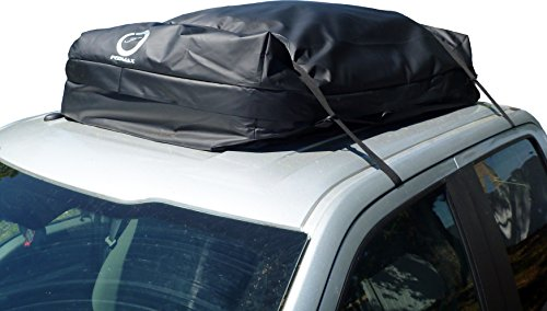 (Fedmax Car Rooftop Carrier   Large 20CBFT   Use With or Without Racks  Waterproof   Lock Included   Roof Top Luggage Bag)