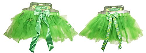 Diy Costumes With Green Tutus (Set of St Patrick's Day Tutu Skirts! Kid's Irish Lucky Tutu Skirt! Perfect for St Paddy's Day or Halloween! (2))