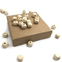 Amyster 100pcs Wooden Teether 12mm*12mm(0.47''*0.47) Square Shape Wood Beads For Baby Teething Crib Toy DIY Crafts Beech Chew Beads Wooden Teether Toys (100pcs)