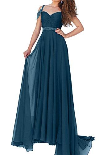 Abendkleider Promkleider Ivydressing Damen Paillette Ballkleider Inkblau Chiffon Traeger Neu Lang wwX1Sqp