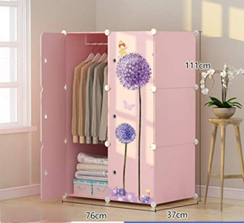 Yigui Portable Clothes Closet Wardrobe Bedroom Armoire Dresser Cube Storage Organizer,Space Saving,Ideal Storage Organizer,6Doors +3Grid + 1Hanging Sections by Yigui