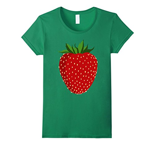 Strawberry Costumes Women (Womens Strawberry Costume Shirt Berry Sweet Cute Halloween Costume XL Kelly Green)