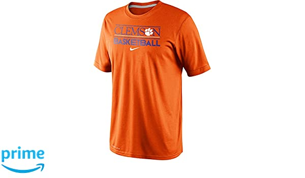 95ec2a67fe7e Amazon.com  Nike Clemson Tigers Basketball Team Issue Practice Dri-FIT T- Shirt  Sports   Outdoors