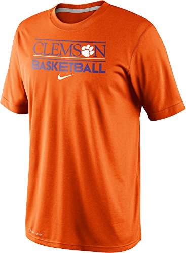 Nike Clemson Tigers Basketball Team Issue Practice Dri-FIT T-Shirt (XL, Orange) (Clemson University Basketball)