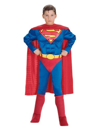 Deluxe Muscle Chest Superman Costume - Small