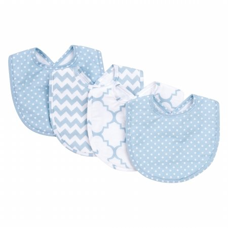 Trend Lab 8 Piece Bib and Burp Cloth Set, Blue Sky - Blue Piece Cloth