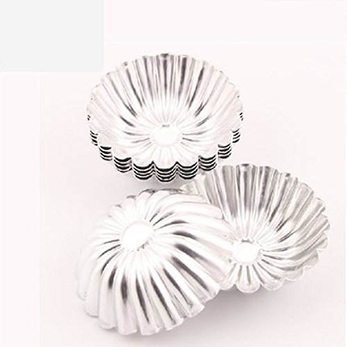 Ancdream Egg Tart Aluminum Cupcake Cake Cookie Mold Lined Mould Tin Baking Tool 24Pcs