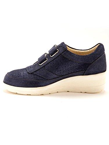 Mujer Zapatos Cordones Piel Pediconfort azul de Otra marino de OwdxY4q