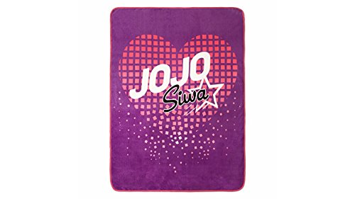 Nickelodeon Jojo Siwa Purple Super Soft Plush Throw 46 x 60 (Official Nickelodeon Product) Official Throw Blanket