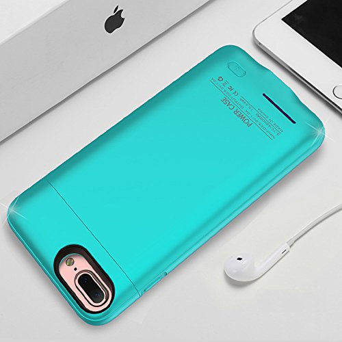 iPhone 8 plus / 7 plus / 6 plus / 6S plus Battery Case, F.Dorla 4200mAh Ultra Thin Extended Rechargeable Apple Battery Power Bank Slim Charger Case with Magnet bracket 5.5 inch (Cyan-blue) by F.DORLA (Image #6)