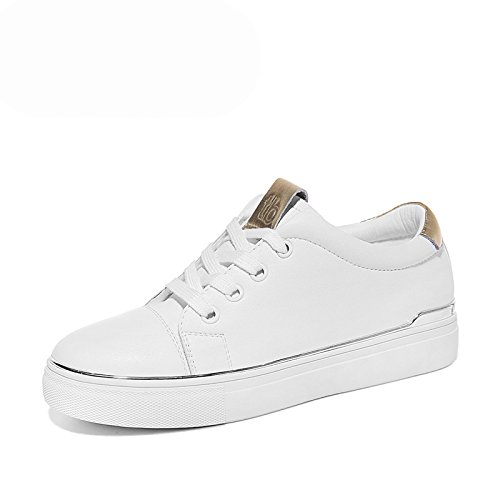 KPHY Zapatos De Mujer La Primavera Los Estudiantes Estilo De Maiden La Moda La Academia Fondo Plano Junta Zapatos white