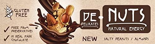 Nutrend DeNuts 35x40g Salty Erdnüsse köstliche dunkle Schokolade zu den knackigen Nüssen, Samen und Honig leckerer Snack