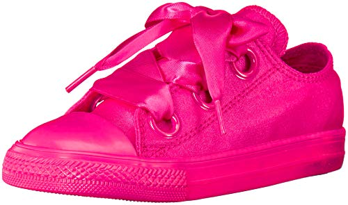 Converse Girls' Chuck Taylor All Star Big Eyelets Low Top Sneaker, Fuchsia, 5 M US Toddler
