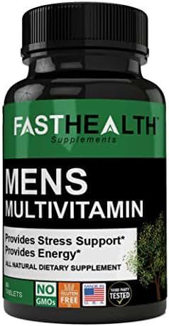 Premium Mens Multivitamin - Stress Support, Energy, Overall Body Health & Wellness