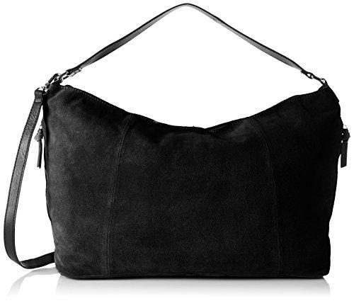 Pieces Pclady Suede Bag, Sacs portés épaule Noir (Black)