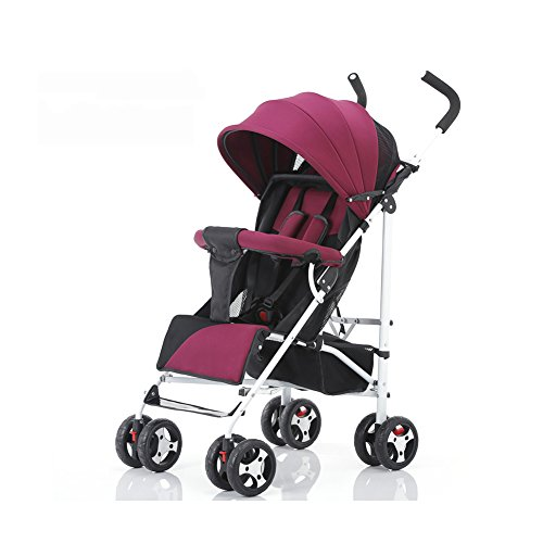 TIANG-Light Weight Baby Jogger Stroller With Convenient Roomy Storage(red)