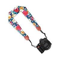 LONGTEAM Comfortable Scarf Camera Strap, Universal Shoulder Neck Strap for All DSLR Camera Nikon Canon Sony Pentax Fujifilm Etc by LONGTEAM