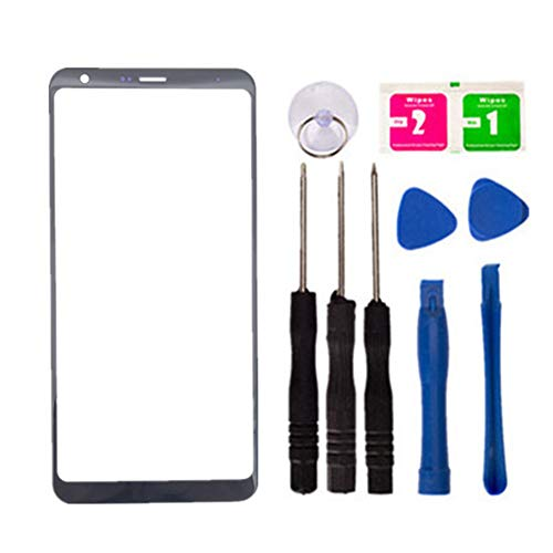 (Replacement Screen Repair Front Outer Top Glass Lens Cover for LG Stylo 4 Q710 Q710MS Mobile Phone Parts and Tools (No LCD and Touch Digitizer))