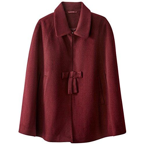 Con R Bordeaux Rosso Mantella La Redoute Dettaglio Donna Mademoiselle Fiocco 1wHXfO