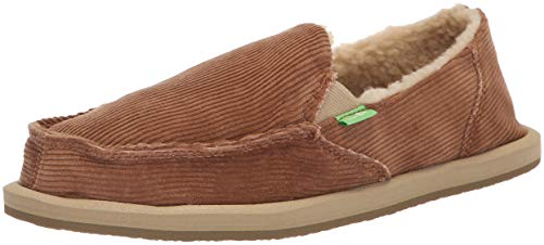Sanuk Women's Donna Chill Cord Loafer Flat, Tobacco, 8 M US