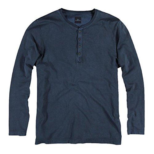 engbers Herren Henley Shirt, 22740, Blau