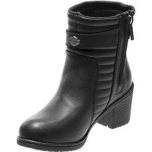 Harley-Davidson Women's Saffron 5-Inch Motorcycle Boots D87124 (Black, 7)