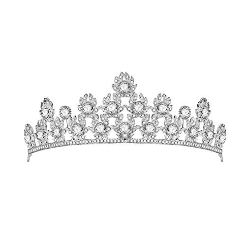 Queen Elizabeth Tiara - HighPlus Rhinestone Princess tiara for Women Wedding Crown Crystal Tiara Prom Queen Crown for Pageant Birthday Costume Party