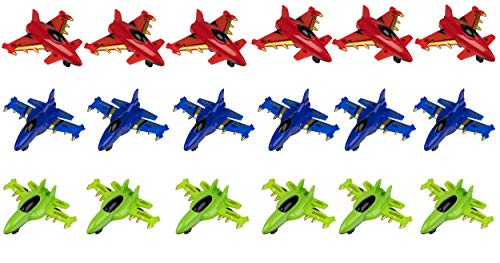(Juvale Party Favor Airplanes Pull-Back Toys (18 Pack) )