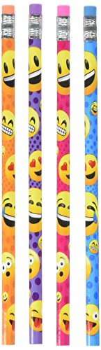 Emoji Pencil, 7.5-Inch, Pack of 48 -
