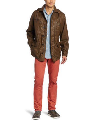 French Connection Men's Military Style Jacket, Beech,