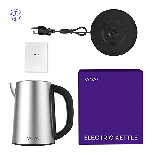 Electric Kettle, VAVA Real-Time LED Display Tea Kettle with Temperature Control, 1.7L Stainless Steel Fast Boiling Hot Water Kettle, 2H Keep Warm & Memory Function by VAVA (Image #7)