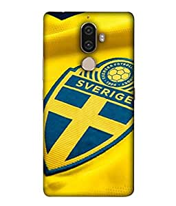 ColorKing Football Sweden 03 Yellow shell case cover for Lenovo K8 Note