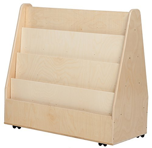Contender C34230F-C5 Mobile Double Sided Book Display, Assembled w/Casters by Wood Designs