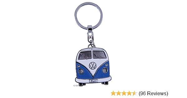 Black BRISA VW Collection VW T1 Bus Enamel Key Ring