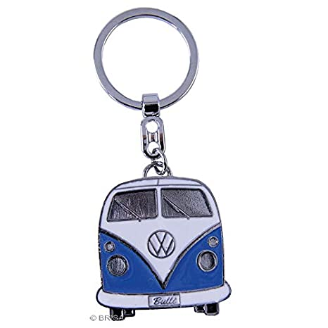 BRISA VW Collection VW T1 Bus Key Ring in Gift Tin - Blue
