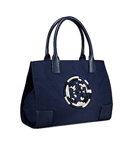 Tory Burch Ella Color-Block Mini Tote (Navy - Sale Tory Burch