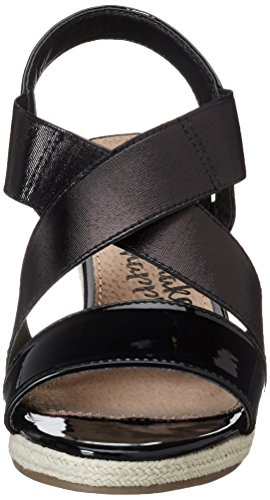 XTI Black Mirror Pu Ladies Sandals . - Plataforma Mujer Schwarz (Black)