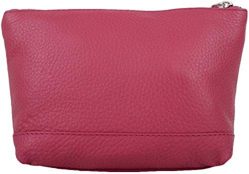 Caja Mujer Suave Cuero De La Para Color De Bolsa Genuino Snugrugs Compone Rosa qFC8AOw5x