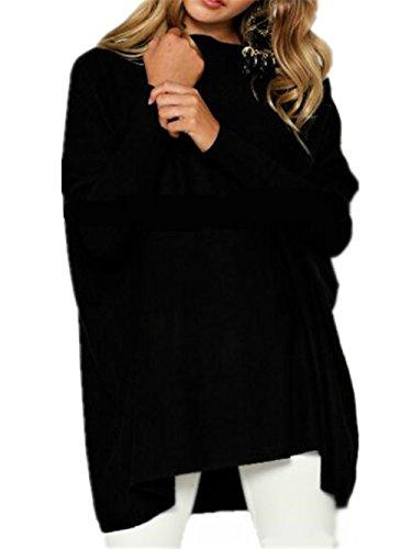 AILIENT Comode Maglie Black Rotondo Lunga Manica Camicia Invernale T Shirt Lunga Donna Fit Collo Maglietta Camicia Autunno Oversize TwXTOr6q