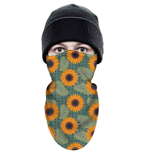 Women Men Winter Windproof graphic Sunflowers near me Half Face Mask Hiking Thermal fun face mask