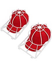 Hat Washer for Washing Machine,2 Pack Dishwasher Hat Holder for Baseball Caps,Ball Cap Cleaner,Curved Flat Bill Hat Frame Cage for Washing,Baseball Cap Wash Shaper Protector,Dishwasher Hat Cleaner Cleaning Rack